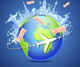 Vector Global Travel design elements set 01