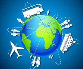 Vector Global Travel design elements set 02