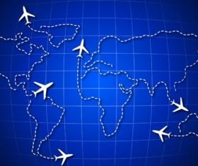 Vector Global Travel design elements set 03