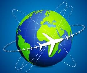 Vector Global Travel design elements set 04