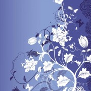 Link toBlue background with flower art vector