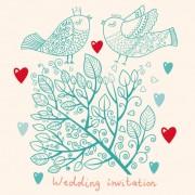 Link toRomantic wedding invitation card vector 01