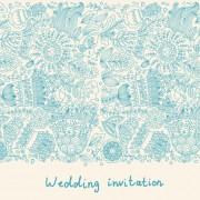 Link toRomantic wedding invitation card vector 02