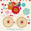 Romantic wedding Invitation card vector 03