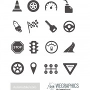 Link toTraffic elements vector icons
