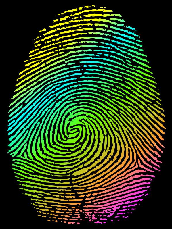 Vector set of fingerprints design elements 01