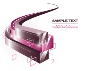 3D abstract shapes background vector 01