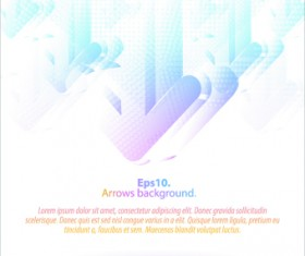 Pastel colors background with Arrows vector 01