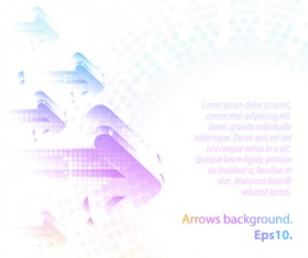 Pastel colors background with Arrows vector 02