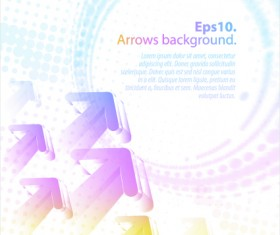 Pastel colors background with Arrows vector 03