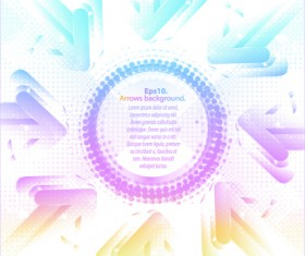 Pastel colors background with Arrows vector 04