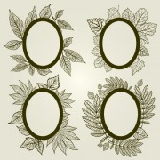 Link toVector autumn leafs frames with borders 03