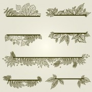 Link toVector autumn leafs frames with borders 04