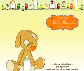 Cute Baby vector backgrounds set 02