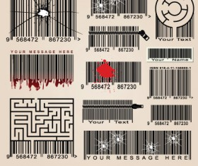 Vector Barcode design art 02