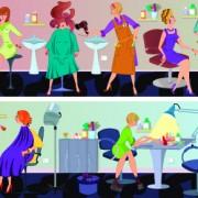 Link toBeauty salon workers design vector 03