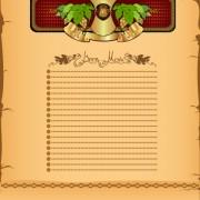 Link toAntique beer menu vector background 01