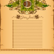 Link toAntique beer menu vector background 02