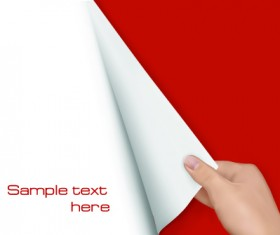 Hand open book vector set 05