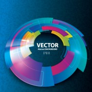 Link to3d blue vector background 01