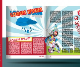 Vector Brochure and magazine layout design set 01