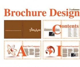 Vector Brochure and magazine layout design set 02