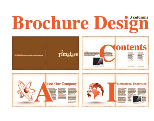 Vector Brochure and magazine layout design set 02 - Vector Cover ...