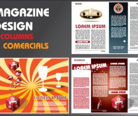 Vector Brochure and magazine layout design set 03