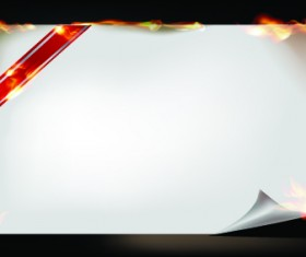 Burning paper roll vector background 02