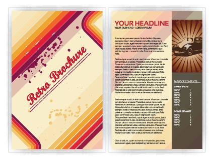 Commonly Business brochure cover design vector 04