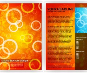 Commonly Business brochure cover design vector 05