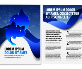 Cover of Business brochure and flyer vector 05