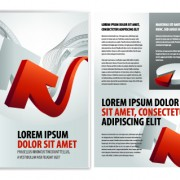 Link toCover of business brochure and flyer vector 06