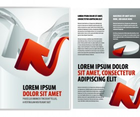 Cover of Business brochure and flyer vector 06