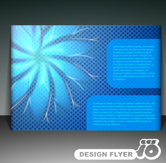 Modern Business letterhead and brochure cover vector 02