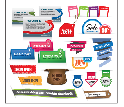 Business tag Design elements vector 02 free download