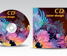 Floral of CD cover design elements 01