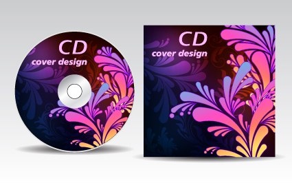 Floral of CD cover design elements 02