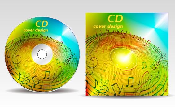 Floral of CD cover design elements 03