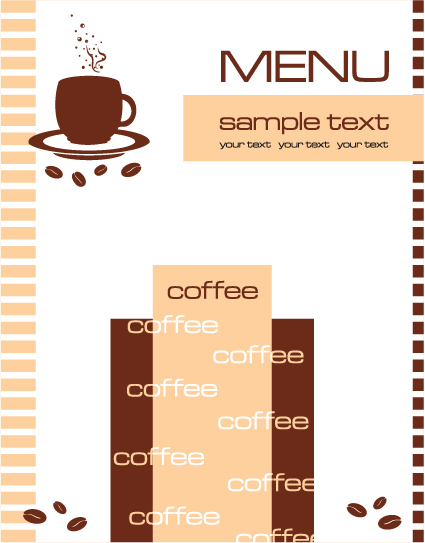 Cafe menu vector template vector cover free download for Cafe menu design template free download