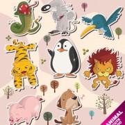 Link toVector amusing cartoon animals design 03