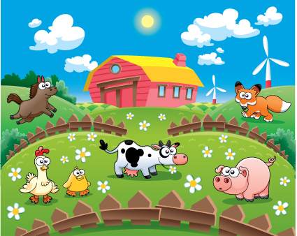 Cartoon Animals And Farm Vector Animal Free Download