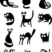 Link toDifferent cats vector illustration 01