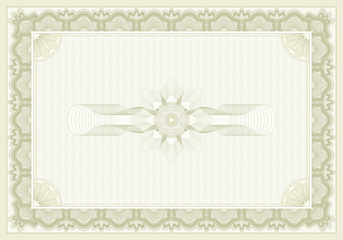 decorative pattern certificate backgrounds vector 05 free