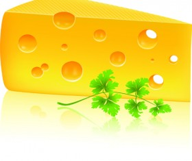 Vector Cheese Design Elements 03