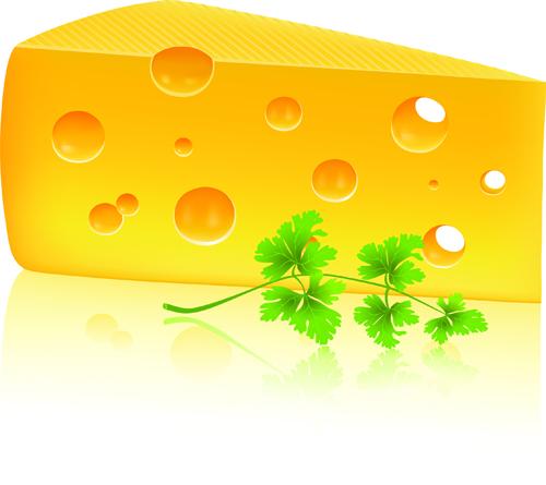 Vector Cheese Design Elements 03