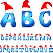 Link toChristmas alphabet vector illustration 01