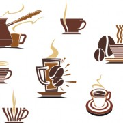 Link toVector coffee icons design elements 02