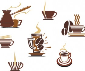 Vector Coffee icons design elements 02
