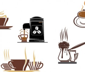 Vector Coffee icons design elements 03